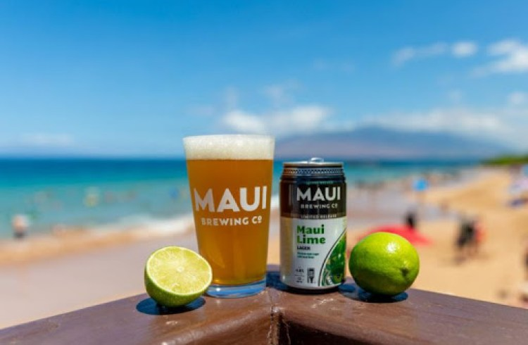 Maui Lime Beer at the Beach
