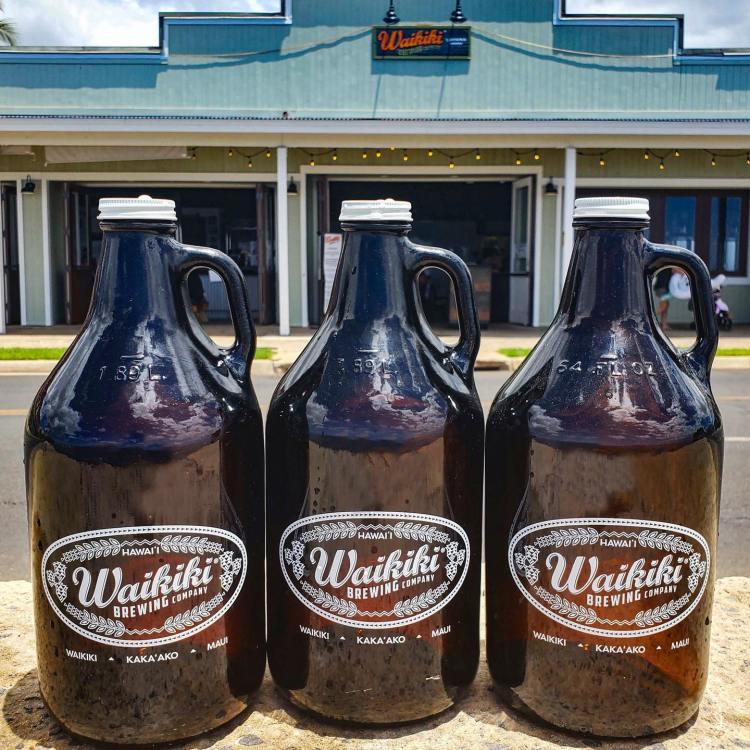 craft beer growlers waikiki brewing maui