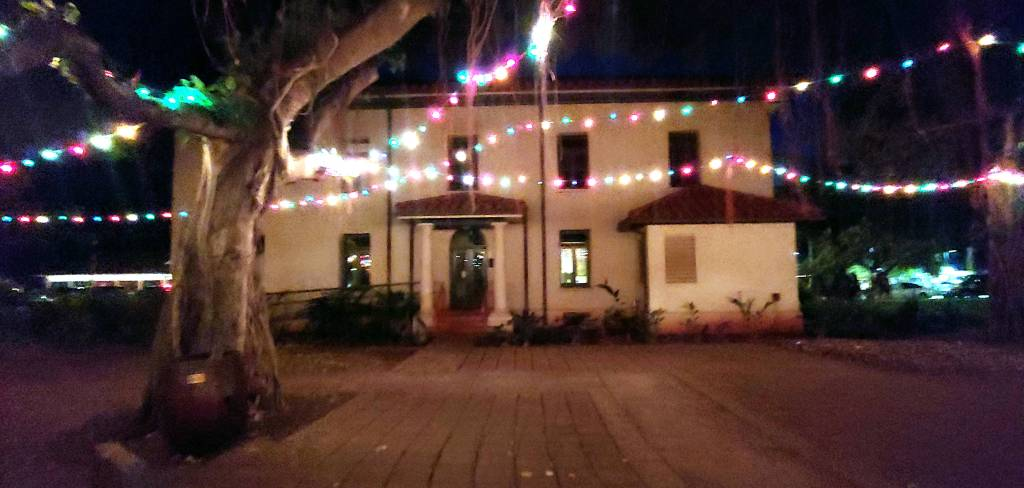 Old Courthouse Lahaina with Christmas Lights