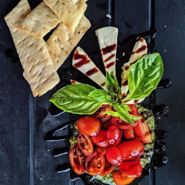 Happy Hour Caprese Salad at Pi Artisan Pizzeria Maui