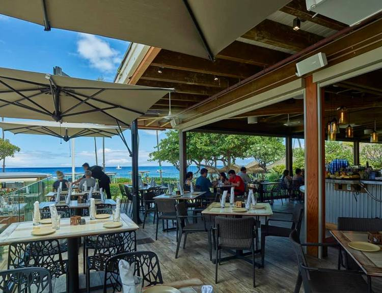 Monkeypod Kitchen by Merriman Ocean View Maui Restaurant with Outdoor Seating