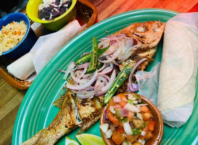 Mojarra frita whole fried fish - La Catrina Maui Mexican restaurant now open