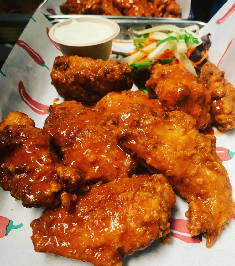 Happy Hour Buffalo Chicken Wings at Milagros Restaurant Maui