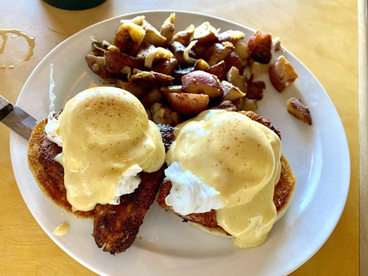 Breakfast at Betty's Beach Cafe - eggs benedict