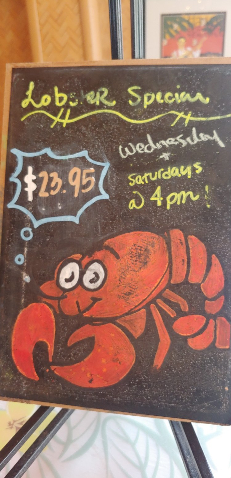 what is the lobster special at bettys cafe lahaina