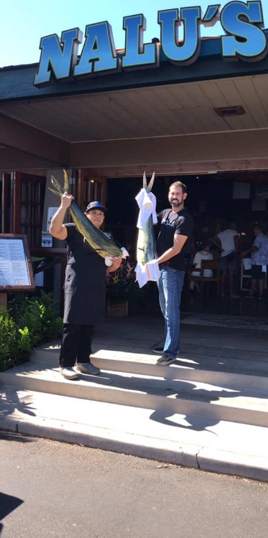 Fresh Caught Mahi Mahi Fish at Nalus South Shore Grill Maui