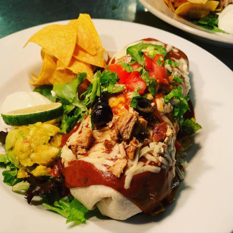 wet burrito at milagros happy hour - best happy hours near me