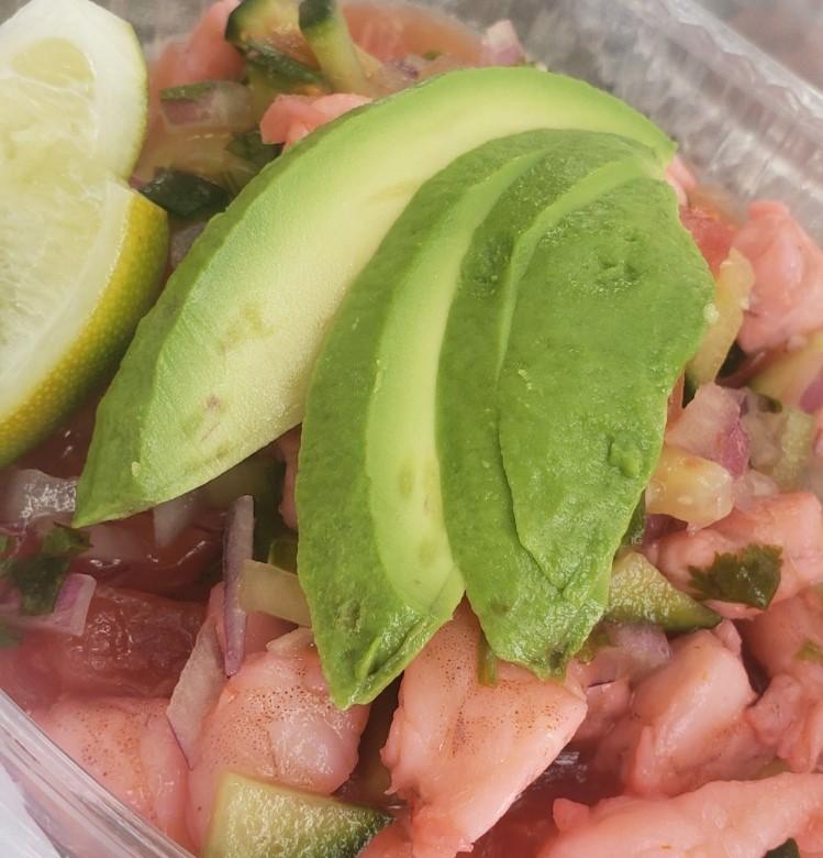 ceviche with fresh avocado
