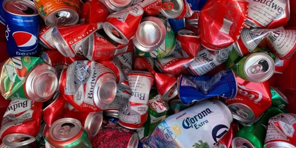 recycle beer soda cans maui