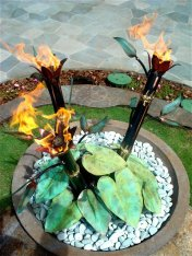 Bamboo Taro fire bowl