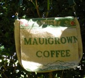 Small Messenger Burlap Coffee Sack Bag Maui Hawaii