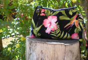 Wicked Ono Handmade Clutch with Hawaiian Fabric