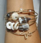 Floating Star Bangle by MauiOceanJewelry