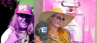 paris hilton in hawaii hat