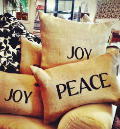 holiday pillow maui joy peace handmade