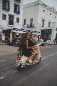 Walking and Vespa are the best ways to get around Cadaques