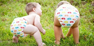 Maui babies in cloth diapers