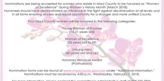 Maui Women of Excellence Awards 2018
