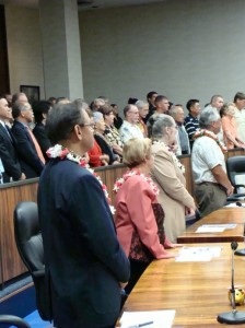 File Photo of Council Members in Chamber. By Wendy Osher.
