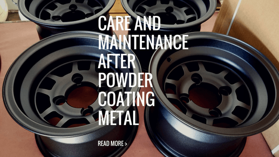 How do you maintain your powder coated metal parts or rims?