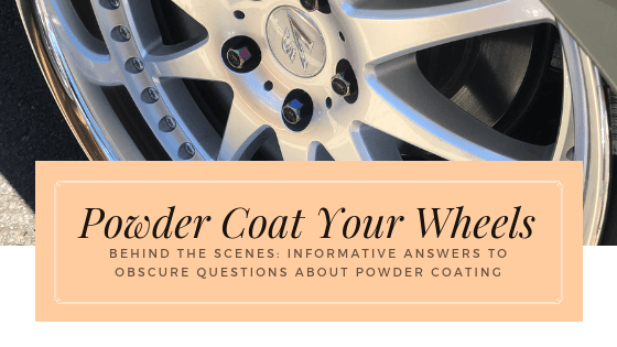 Can you powder coat the rubber part of a wheel?