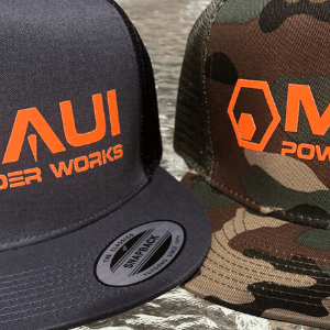 trucker hat, maui powder works