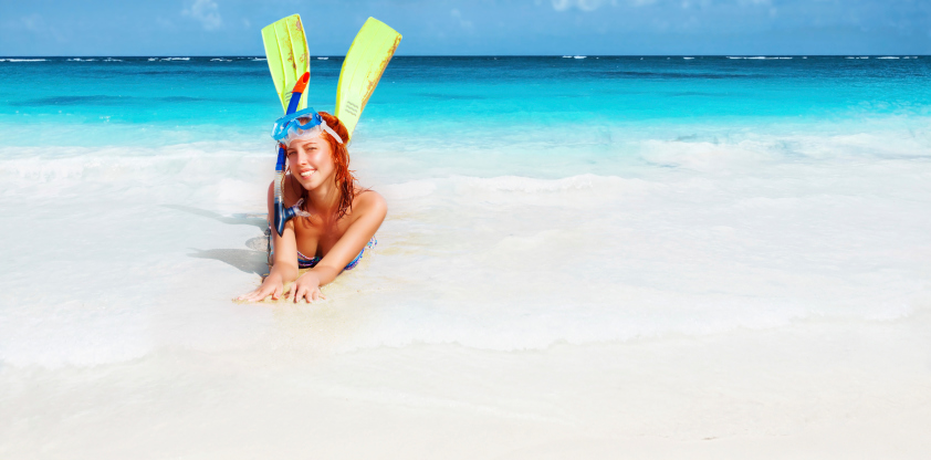Rent Snorkel gear and head to the Beach!!
