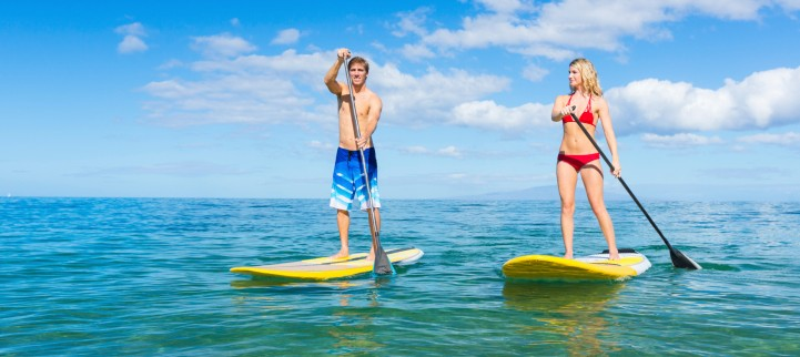 stand up paddle board rentals and lessons on Maui; SUP