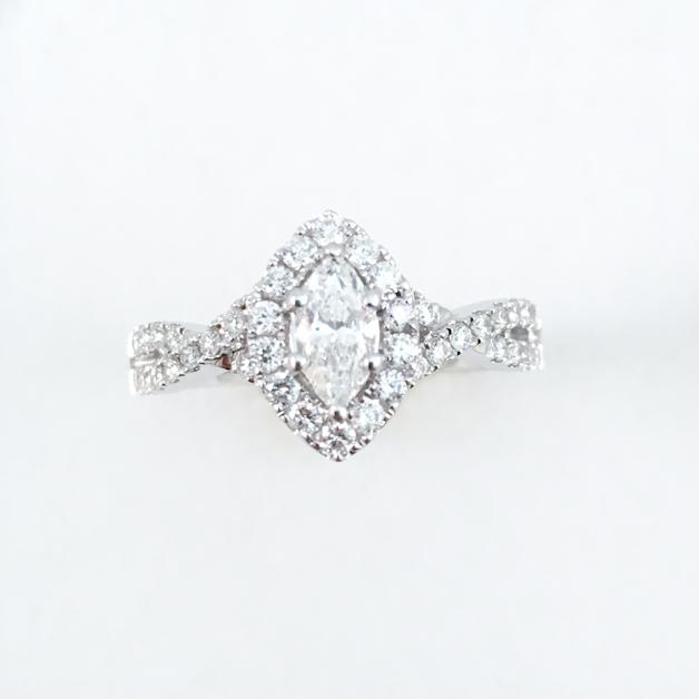 White Gold Marquise Diamond Ring Mauk Jewelers