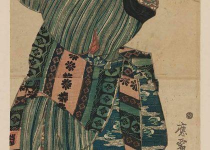 Utagawa Kunisada - Mujer jugando con un gato