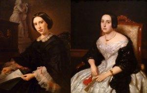 Comparativa de retratos de mediados del siglo XIX
