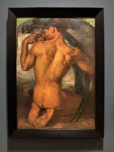 """El quetzal,1917, Saturnino Herrán, óleo sobre tela, colección INBA / Museo de Aguascalientes, ICA, exposición """"Saturnino Herrán y otros modernistas""""."""
