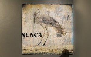 """Nunca , 2018, Amador Montes, mixta sobre tela, exposición """"Nada se termina"""""""