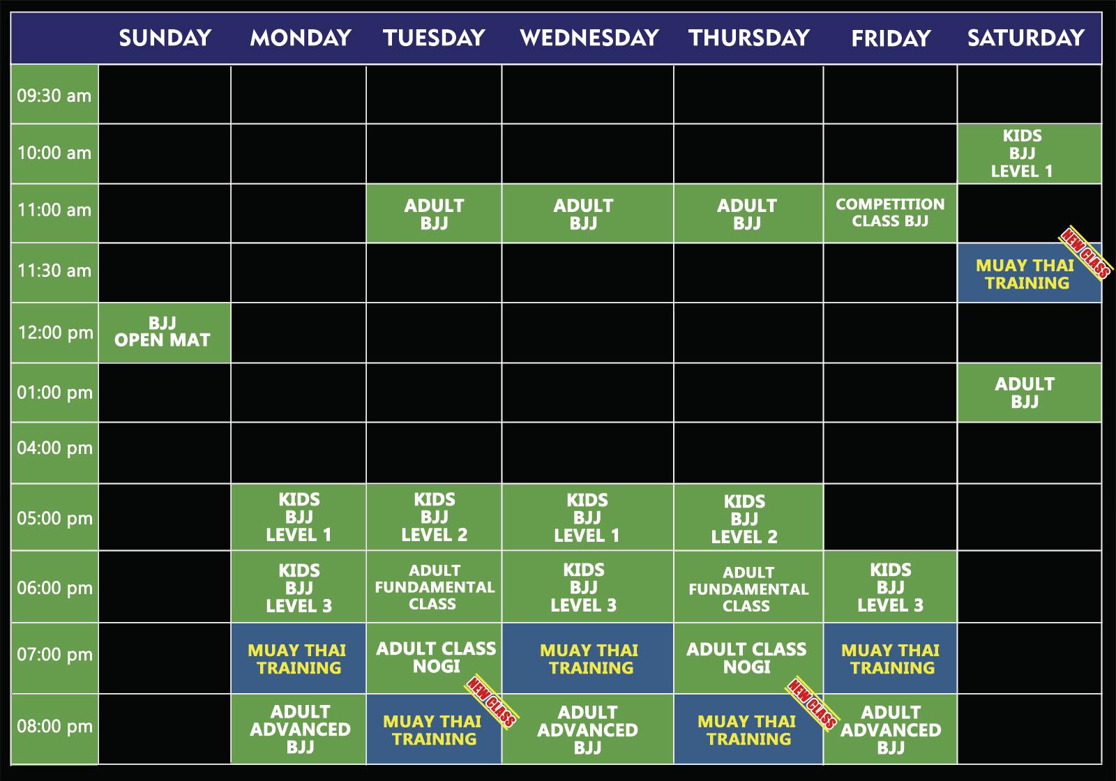 Schedule Week Site Mau Mau 01-2020