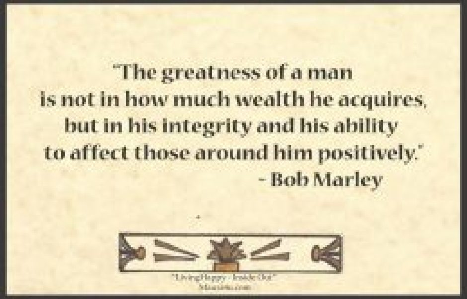 Bob Marley Quote about Greatness