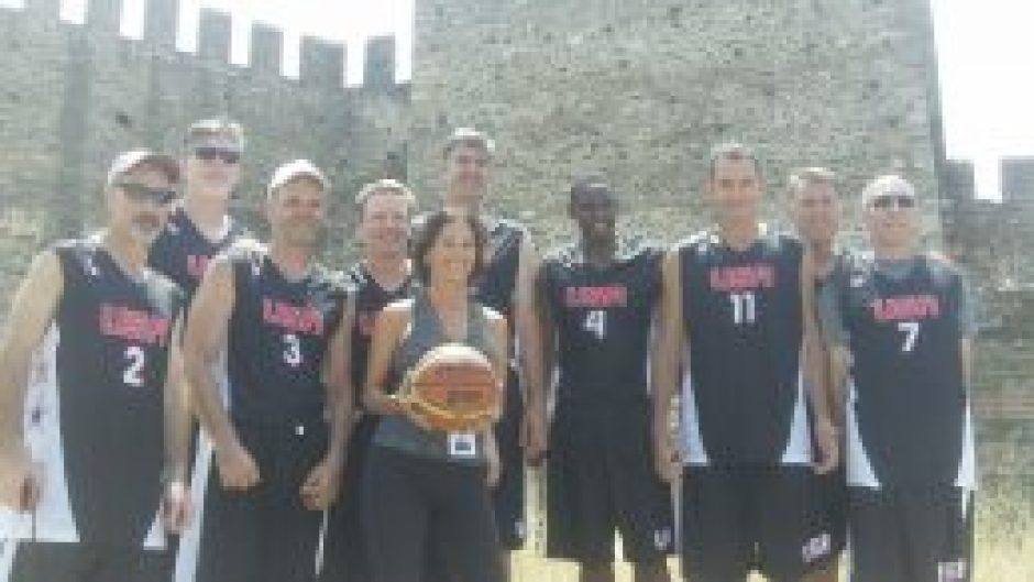Proving the ironies of life - I'm playing delegate to the USA Masters 50+ team in Thessaloniki, Greece