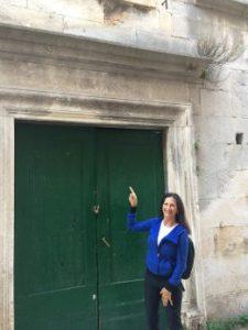 Maura Sweeney at House of Happy Man in Omis, Croatia