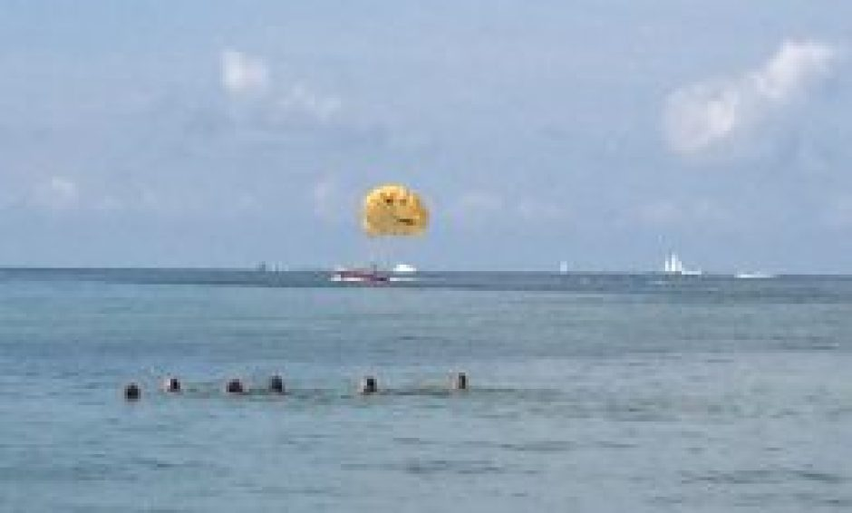 Clearwater Beach - smiley face for parasailing joy