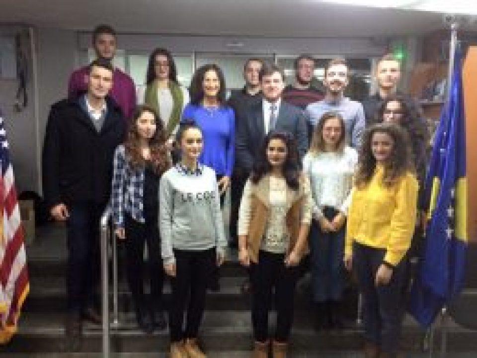 With the International Leadership School in Pristinja, Kosovo