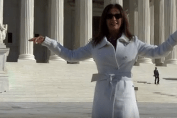 Maura Sweeney stands at U.S. Supreme Court building