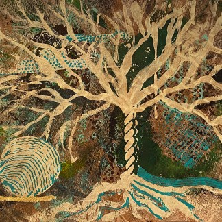 Nature vs. Nurture original painting by Maura Satchell, artist