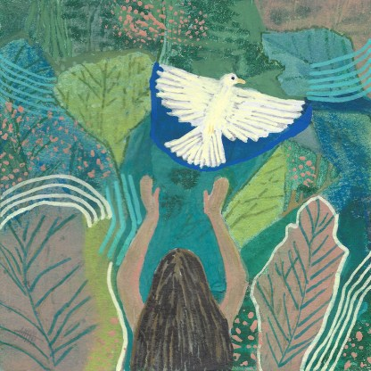 Sacred Release Original Painting by Maura Satchell Artist