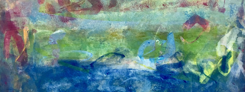 """Roadtrip Series I"". Monotype by Anne Raymond."