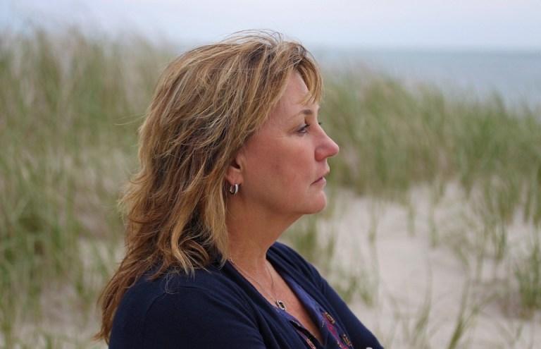Maureen at the beach