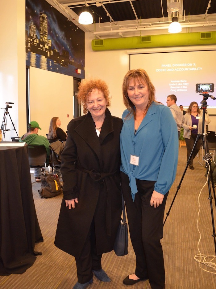 Maureen with Nan Goldin