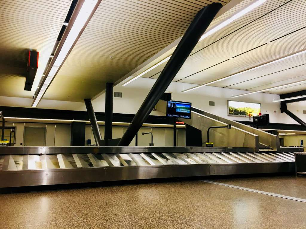 Baggage claim area at SEA-TAC
