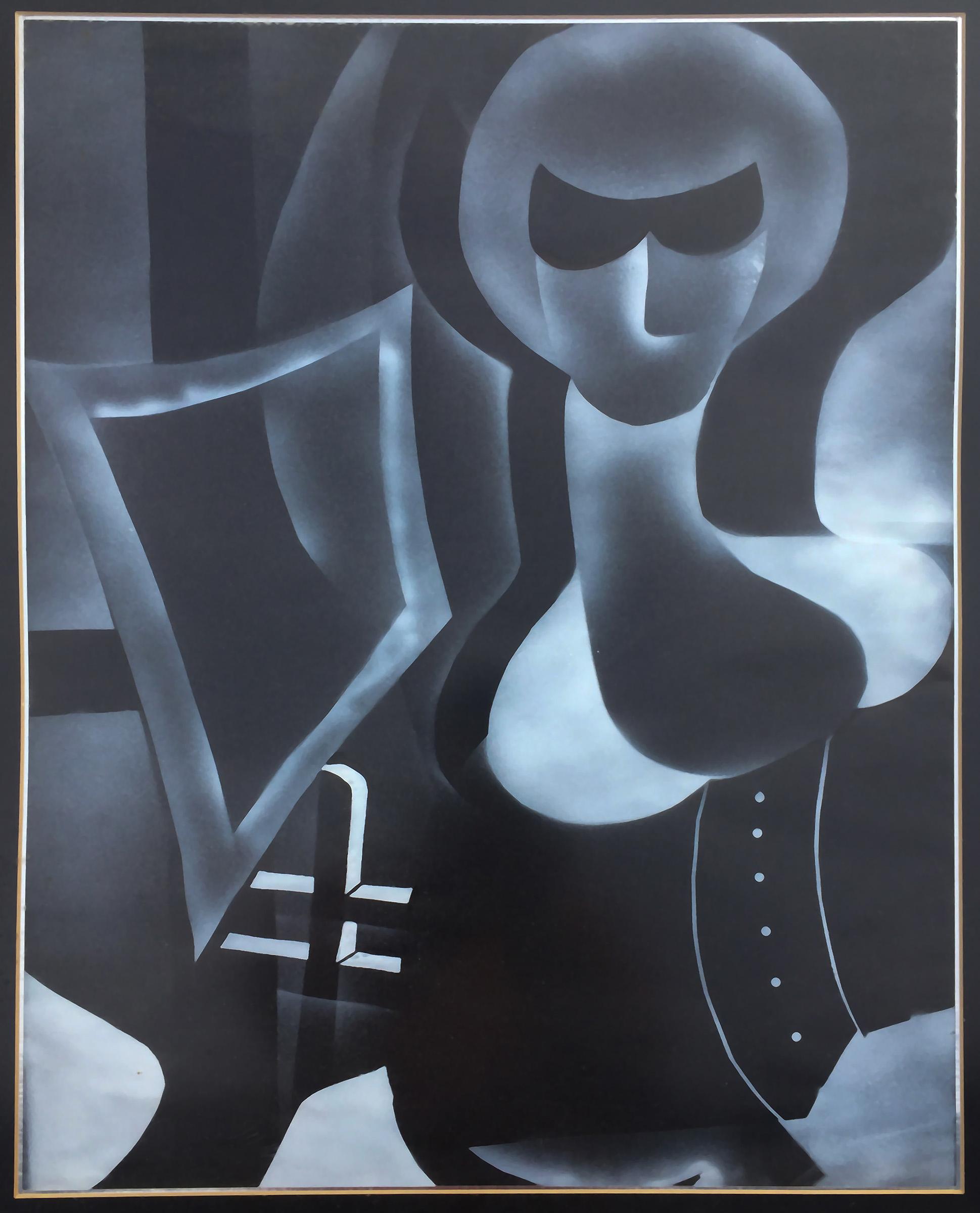 #123 Black and white dark study