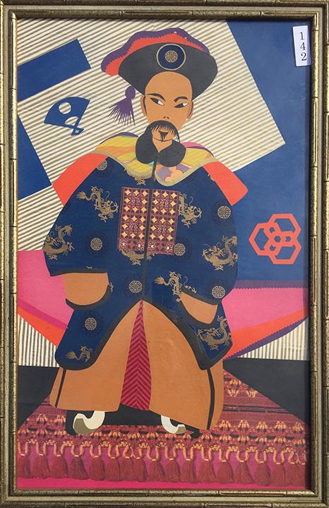 #142 Collage - Oriental man