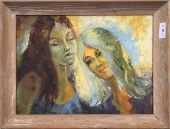 #151 Two girls - oil