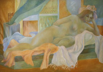 Untitled Painting Reclining Lady